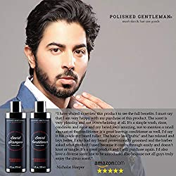 Beard Growth Shampoo and Conditioner Set - Best Organic Face Soap with Biotin & Tea Tree - Best Beard Wash with Beard Oil - Facial Hair Growth Kit for Men - Rapid Hair and Beard Growth - Made in USA  Image 3
