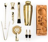 Mixology-Bartender-Kit-10-Piece-Bar-Tool-Set-with-Stylish-Bamboo-Stand-Perfect-Home-Bartending-Kit-and-Martini-Cocktail-Shaker-Set-For-an-Awesome-Drink-Mixing-Experience-Gold