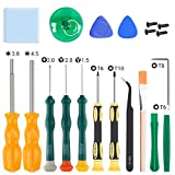 SOKER Magnetic Screwdriver Kit for Nintendo, 17-in-1 Professional Screwdriver Repair Tool Kits, 3.8mm&4.5mm Full Security Screwdriver for Nintendo Switch, New 3DS and Nintendo Wii/NES/SNES/DS Lite/GBA
