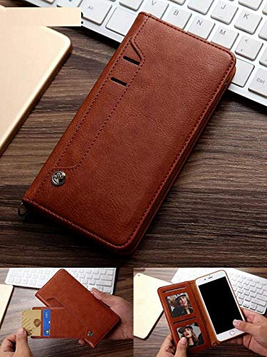 ClickCase™ for Oppo A3s Flipper Series Leather Wallet Flip Case Kick Stand with Magnetic Closure Flip Cover for Oppo A3s (Brown) 53