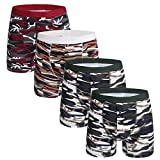 Mens Boxer Briefs Pack 4 Cotton Camo Underwear No Ride Up Button Open Fly,L