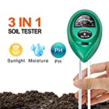 iPower LGTESTSOIL 3 in 1 Soil Meter, pH