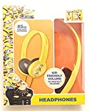 Kid Safe Headphones Despicable Me 3 Minion Over the Ear Yellow and Black with Minion Images Design ~ Volume Limiting Technology