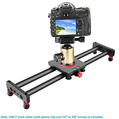 Neewer-Camera-Slider-Carbon-Fiber-Dolly-Rail-16-inches40-Centimeters-with-4-Bearings-for-Smartphone-Nikon-Canon-Sony-Camera-12lbs-Loading