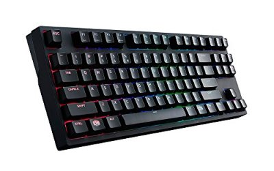 Cooler Master MasterKeys Pro S RGB Mechanical Gaming Keyboard, Cherry MX Blue (Clicky), RGB LED, TenKeyless (Small)