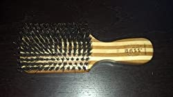 Bass Brushes 100% Wild Boar Bristle Classic Men's Club Style Hair Brush, with 100% Pure Bamboo Handle, Shines, Conditions, and Polishes. Model #153 Customer Image 3