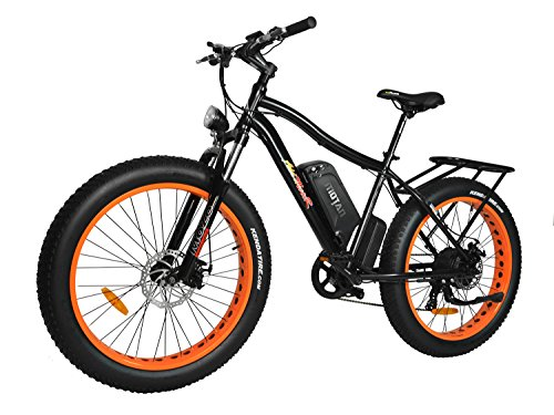 Addmotor Electric Mountain Snow Bike 750W with Removable 48V 11.6AH Lithium-Ion Battery,Fat Tire Mountain Bicycles 25MPH Speed M-550 P7 E-bike (Orange)