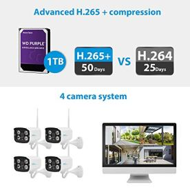 NGTeco-Wireless-Security-Camera-System-with-1TB-Hard-Drive1080P-H265-24G-WiFi-IP-Bullet-Camera-Home-Surveillance-NVR-Kits-4PCS-Outdoor-with-IP66-Waterproof-for-247-Night-Vision-Motion-Alert