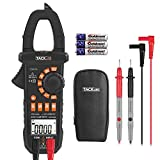 Digital Clamp Meter Multimeter, 4000 Counts with NCV Auto-Ranging Testing AC/DC Current&Voltage, Continuity Electrical Tester, Diode, Resistance(Ohm), Capacitance, Frequency(Hz) - Tacklife CM01A
