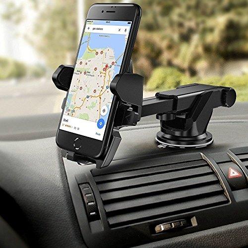 Motoway® 360 Degree Rotating Adjustable Mobile Holder Stand for Car Windshield/Dashboard for Hyundai Creta