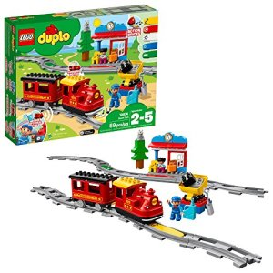 LEGO DUPLO Steam Train 10874 Remote-Control Building Blocks Set Helps Toddlers Learn, Great Educational Birthday Gift (59 Pieces) 51WuHWZQR L