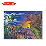 Melissa & Doug Land of Dinosaurs Jigsaw Puzzle (Wipe-Clean Surface, 60 Pieces, 10.9' H x 7.4' W x 1.8' L)
