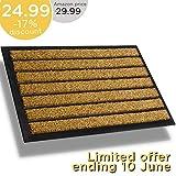 Extra Durable Striped Doormat Outdoor - Rubber Doormat Indoor - Non-Slip Waterproof Doormat Rug (30 x 17) Back Front Doormat - Welcome Mat - Easy Clean Outdoor Doormat - Door Mat Outside/Inside
