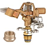 A5001T Heavy Duty Brass Impact Head Sprinkler 0-360 Degree 20-40' Up to 5000 SQF Coverage