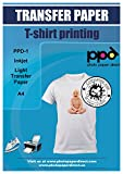 PPD Inkjet Iron-On Light T Shirt Transfers Paper LTR 8.5x11' Pack of 40 Sheets (PPD001-40)