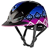 Product review for TROXEL DESIGNER EQUESTRIAN LOW PROFILE WESTERN RIDING HORSE HELMET by FALLON TAYLOR / ATSM / SEI CERTIFICATION CANDY SERAPE XS