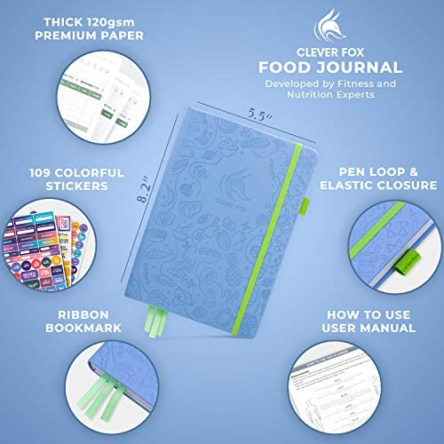 Clever Fox Food Journal - Daily Food Diary, Meal Planner to Track Calorie and Nutrient Intake, Stick to a Healthy Diet & Achieve Weight Loss Goals 4