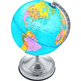 Illuminated Kids Globe with Stand – Educational Learning Toy with Detailed World Map and LED Night Light (Power Cord Included)