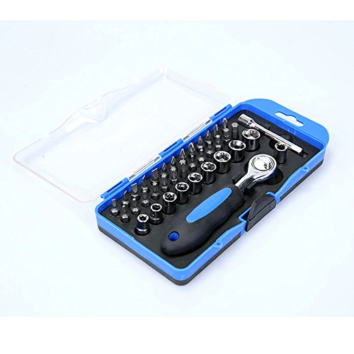 38 in 1 Wrench Tool Kit & Screwdriver and Socket Set Combination Socket Wrench Tool Kit Set