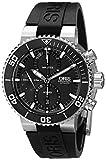 Oris Men's 77476554154RS Aquis Analog Display Swiss Automatic Black Watch