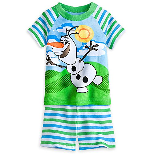 Disney Little Boys' Olaf 2-Piece Pajama Set - Happy Day Green