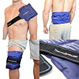 Thermopeutic Reusable Ice Pack for Injuries and Pain Relief (15' X 7') - Extra Cold Long Lasting Gel Formula - for Shoulder, Back, Knee, Arm, Foot and More