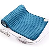 iTeknic Heating Pad for Back Pain and Cramps Relief -Extra Large [17'x33'], Auto Shut Off - Electric Fast Heat Pad with 6 Heat Settings Moist & Dry Heat Therapy Options - Hot Heated Pad