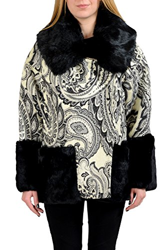 """91oEqEgQWyL Material: 55% Wool 38% Rayon 1% Nylon 6% Polyester Made in Italy Bust: 20"""" Sleeves: 22.5"""""""