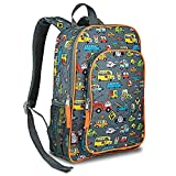 LONECONE Kids School Backpack for Boys and Girls - Sized for Kindergarten, Preschool - Rush Hour