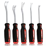 Neiko 20596B Auto Trim Panel Upholstery Removal Tool Set, 5 Piece | Ergonomic Soft Grip Handles