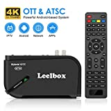 Leelbox Android TV Box, 1080P ATSC Converter Box for Recording PVR, USB Multimedia Playback, Web Browsing, Support 2.4G WiFi/3D/H.265 Video Decoding (Gold Version)