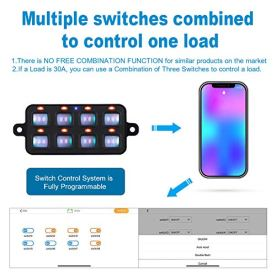 WATERWICH-8-Gang-Switch-Panel-with-Concealed-Mounting-Software-Power-System-DC12V-24V-Programmable-for-Phone-Control-RV-Caravan-Camper-Truck-Jeep-SUV-Bus