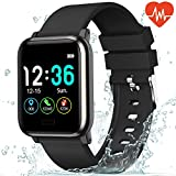 L8star Fitness Tracker Heart Rate Monitor-1.3'' Large Color Screen IP67 Waterproof Activity Tracker with 6 Sports Mode,Sleep Monitor,Pedometer Smart Wrist Band for Women Men, Android iOS