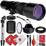 Opteka 500mm/1000mm f/8 Manual Telephoto Lens + Tripod Kit for Canon EOS 80D, 77D, 70D, 60D, 7D, 6D, 5D, 5Ds, Rebel T7i, T7s, T6i, T6s, T5i, T5, T4i, T3i, T3, T2i, T1i, SL2 and SL1 Digital SLR Cameras