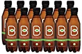 B-tea Raw Organic Kombucha Probiotic Green Tea Bottled 8 oz 12-pack