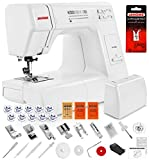 Janome HD3000 Heavy Duty Sewing Machine w/Hard Case + Ultra Glide Foot + Blind Hem Foot + Overedge Foot + Rolled Hem Foot + Zipper Foot + Buttonhole Foot + Leather and Universal Needles + More!