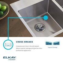 Elkay-Crosstown-EFRU311810TFC-16-Gauge-Stainless-Steel-30-34-x-18-12-x-10-Equal-Double-Bowl-Undermount-Sink-Kit-with-Faucet
