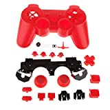 Replacement Full Housing Shell Case Mod Kit For PS3 Controller-Red