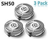 SH50/52 Replacement Heads for Philips Norelco Series 5000 and AquaTouch Shavers, Razor Blades Lift and Cut Sharp No Pulling Hair Shaver Heads Easy Install