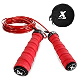 XGEAR Speed Jump Rope- Anti-Skid Handle -2 Adjustable Cable Ropes-Fit for Men & Women,Workout for WOD,MMA Or Boxing Training