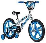 Mongoose Stun Boy's Freestyle BMX Bike with Training Wheels, 18-Inch Wheels, Blue