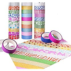 Candygirl Washi Tape Set of 30 Rolls - All Girls Favorite, Great For Arts and Crafts, DIY, Scrapbook -Decorative, Creative, Re-positional, Multi-purpose, Masking tape.