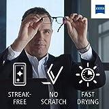 4 Zeiss Lens Cleaner Spray 8 Oz Bottle Glasses Camera Laptops Cellphones (32oz) + 4 Microfiber Cleaning Cloths (4)
