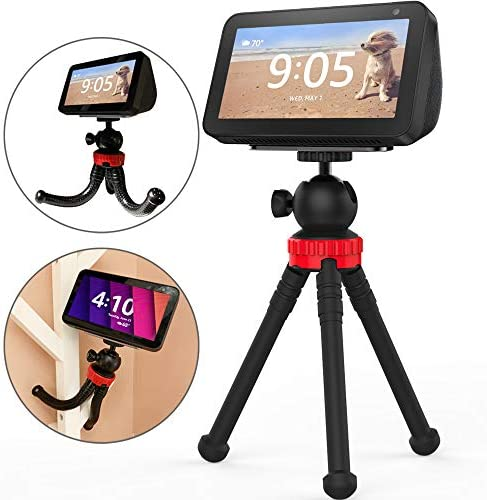 Stand for Echo Show 5, Flexible Tripod Adjustable Stand Holder – Echo Show 5 Stand 360 Degree Rotatable Spherical Tripod for Kitchen, Bedroom, Office and Show Anywhere