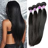 ZSF Hair 7A Grade Peruvian Virgin Hair Straight 3 Bundles 100% Human Hair Extension 14'16'18' Straight Hair Bundles
