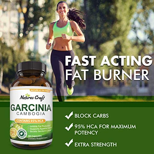 Garcinia Cambogia with 95% HCA Weight Loss Supplement - Best Fast Acting Fat Burner and Natural Carb Blocker Diet Pills - Pure Garcinia Extract Appetite Suppressant for Men & Women 9