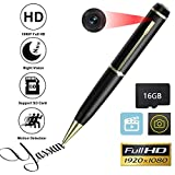 YASSUN Spy Pen Camera,16GB 1080P Full HD Mini Hidden Cam with Video and Photo Recorder Dvr