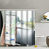 Penang Malaysia July 12 2017 Female Business Finance Google Transportation Fabric Shower Curtain, Water-Repellent Liner for Master, Guest, Kid's, College Dorm Bathroom 60X72 Inch