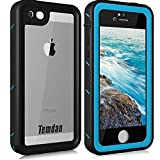 Temdan iPhone SE/5S/5 Waterproof Case Built-in Screen Protector Shockproof Waterproof Case for iPhone SE/5S/5