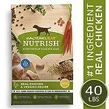 Rachael Ray Nutrish Real Chicken & Veggies Recipe Dry Dog Food, 40 Pounds